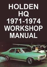 HOLDEN HQ 1971-1974 WORKSHOP MANUAL