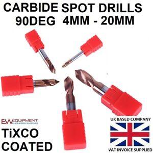 Carbide NC Spot Drill 90° TiXCO Coated Spot Drill - Lathe CNC HSS Engineering