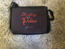 BN Brown 'Knowledge Is Power' Canvas Messenger Bag