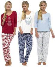 Foxbury Snowflake Fleece Pants & Glitter Print Jersey Top Pyjamas