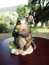 "Vintage 1995 Lenox Porcelain Figurine- Spring Shadow- Groundhog ~ 5.0"" Tall"