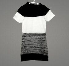 Dollhouse Girls Short Sleeve Knit Cardigan Sweater Dress Black Cowl Neck Large