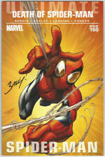 Ultimate Death of Spiderman #160 SIGNED Mark Bagley Marvel Comic Art