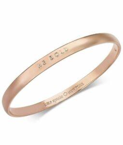 Kate Spade York Be Bold Rose Gold Tone Bangle Bracelet