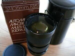 Rokina 37-105mm F:3.5 Macro manual zoom lens for Nikon Ai mount.