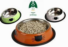 Lot 2 Dog Cat Pet Bowl Stainless Steel Feeding Food Water Random Color S M L