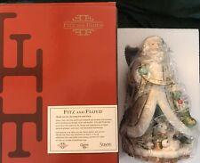"New Fitz & Floyd Winter Wonderland Holiday Santa Figurine 9"" Porcelain Nib Mib"