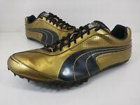 PUMA Complete TFX Sprint 2 Track Shoes Gold Black 184450 01 Men's Size 11