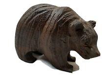 Black Forest brown hand carved bear