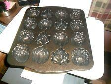 Nordic Ware Autumn Cakelet Pan CLEAN BEAUTIFUL PAN 16 PIECE ASSORTMENT
