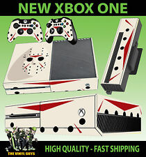 XBOX ONE Console AUTOCOLLANT JASON VOORHEES MASQUE propre horreur Skin & 2 Pad