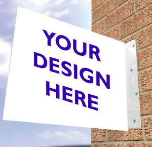 Customised Protruding Wall Mounted Flange stick out Sign