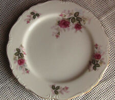 """Harmony House Japan Eugenie Rose White with roses & Gold Dinner Plate 10 1/2 """""""