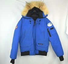 Mens Canada Goose Chilliwack Bomber PBI Blue Size M Medium Jacket Coat Coyote