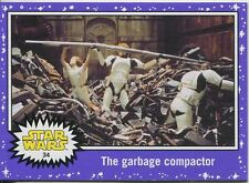 Star Wars JTTFA Purple Parallel Base Card #34 The garbage compactor