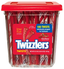 Twizzlers Strawberry Flavoured Twists, 9g - 180 Pieces