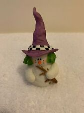 New Sarah's Attic Snowonders Witchy October Snowman