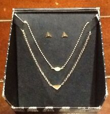Lucky Brand Holiday Gift Box Set Gold Tone Stud & Semi Precious Jewelry Set SB1