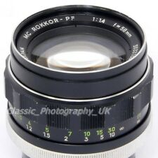 Minolta MC Rokkor-PF 1:1.4 f=58mm FAST! Prime Lens also compatible with DSLR