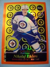 "2015-16 OPC Platinum ""Retro"" (Rainbow Orange) SP # R80 Nikolaj Ehlers RC!  14/49"