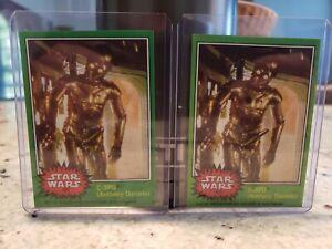 Vintage 1977 Topps Star Wars C-3PO Error & Corrected REPRINT Card #207 LOOK 👀