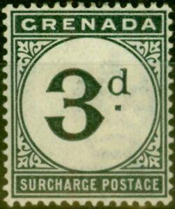 Grenada 1892 3d Blue-Black SGD3 Fine Mtd Mint