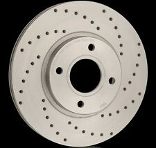 National Drilled Brake Discs (Pair) PBD1523F Fits Mazda