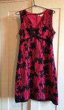 Exquisite 'Jane Lamerton' Pink Silk Dress -Beautiful Fabric/Detailing-BNWOT! 10