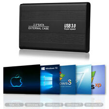 "External Backup Hard Drive Case USB 3.0 3TB Enclosure 2.5"" Portable HDD Sata SSD"