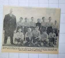 1949 Sudbourne Junior School Brixton Hill Soccer Team Darton Vinton Argent Billo