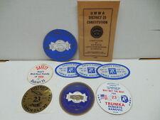 Coal Mining Memorabilia UMWA Vintage Constitution And Stickers District 23 Mines
