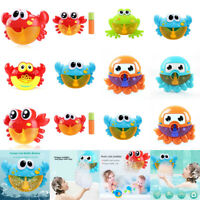 Cartoon Crab Bubble Machine Music Bubble Maker Funny Water Baby Bath Shower Toy
