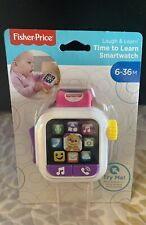 Fisher-Price Laugh & Learn Time to Learn Smartwatch, Musical Baby Toy, Pink