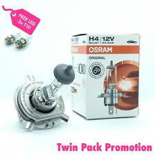 FREE T10 LED With Purchase Of 2x OSRAM Original Line H4 12V 55W (64193) Globes