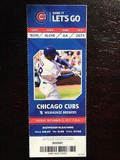 Jake Arrieta 20th Win Season Ticket Stub Chicago Cubs September 22 - 9/22/15