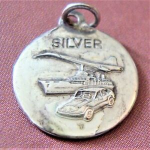 Vintage Silver St Christopher Medal Concorde Car and Ship