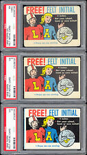1958 Topps CFL & NFL Free Felt Initial Master Set: 3 Football Cards  PSA Graded!