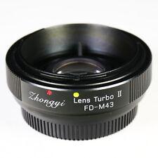 Zhongyi Focal Reducer Lens Turbo II Booster Canon FD für Micro 4/3 Adapter MFT