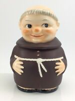 Vintage W Goebel West Germany Tabacco Jar Humidor Friar Tuck Monk 6.5in K194