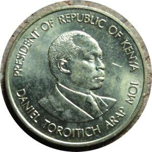 elf Kenya 5 Cents 1991 Lion