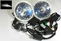 """7"""" ROUND H6024 PROJECTOR JDM HEADLIGHTS 6000K WHITE HI/LOW HID CONVERSION KIT"""