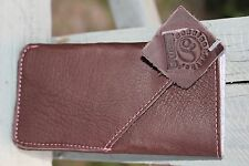 BROWN Genuine LEATHER HAND MADE Case APPLE iphone 5 5s 5c Wallet Cover Pouch USA