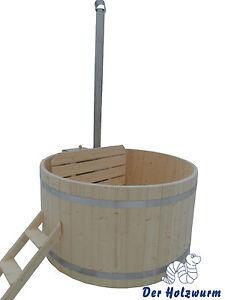 Badebottich 180 Badefass Badebecken Badezuber Holz Bausatz incl. Unterwasserofen