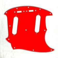 (E67) Custom Guitar Pickguard Fits Mustang Classic Series style ,4 Ply Red