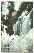 THE FLUME IN WINTER, WHITE MTS., N.H. NEW HAMPSHIRE