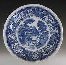 VILLEROY & BOCH BURGENLAND DINNER PLATE, TOILE BLUE AND WHITE