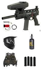 TIPPMANN X7 EGRIP ELECTRONIC PHENOM Paintball Gun N2/HPA Tank Set GXG Vest Pack