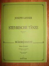 LANNER Styrian Dances Op.165 Wind Quintet score & parts pub. Doblinger