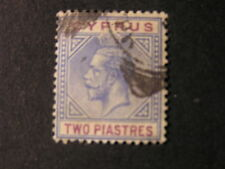 CYPRUS, SCOTT # 79, 2pi. VALUE ULTRA & RED VIOLET 1921-23 KGV ISSUE USED
