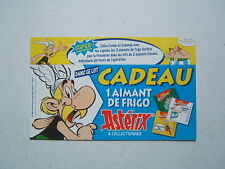 UDERZO /  ASTERIX   / RARE  CARTON EMBALLAGE POUR SAVANE / AIMANT DE FRIGO  1996